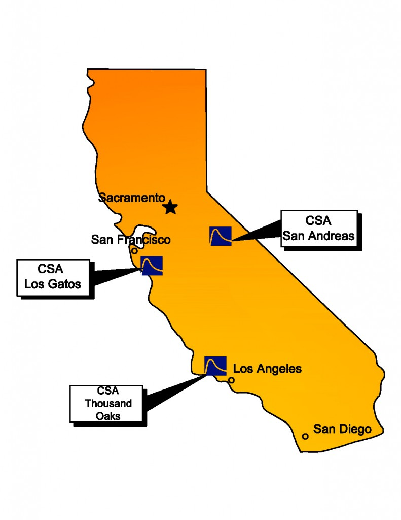 CSA Office Location Map